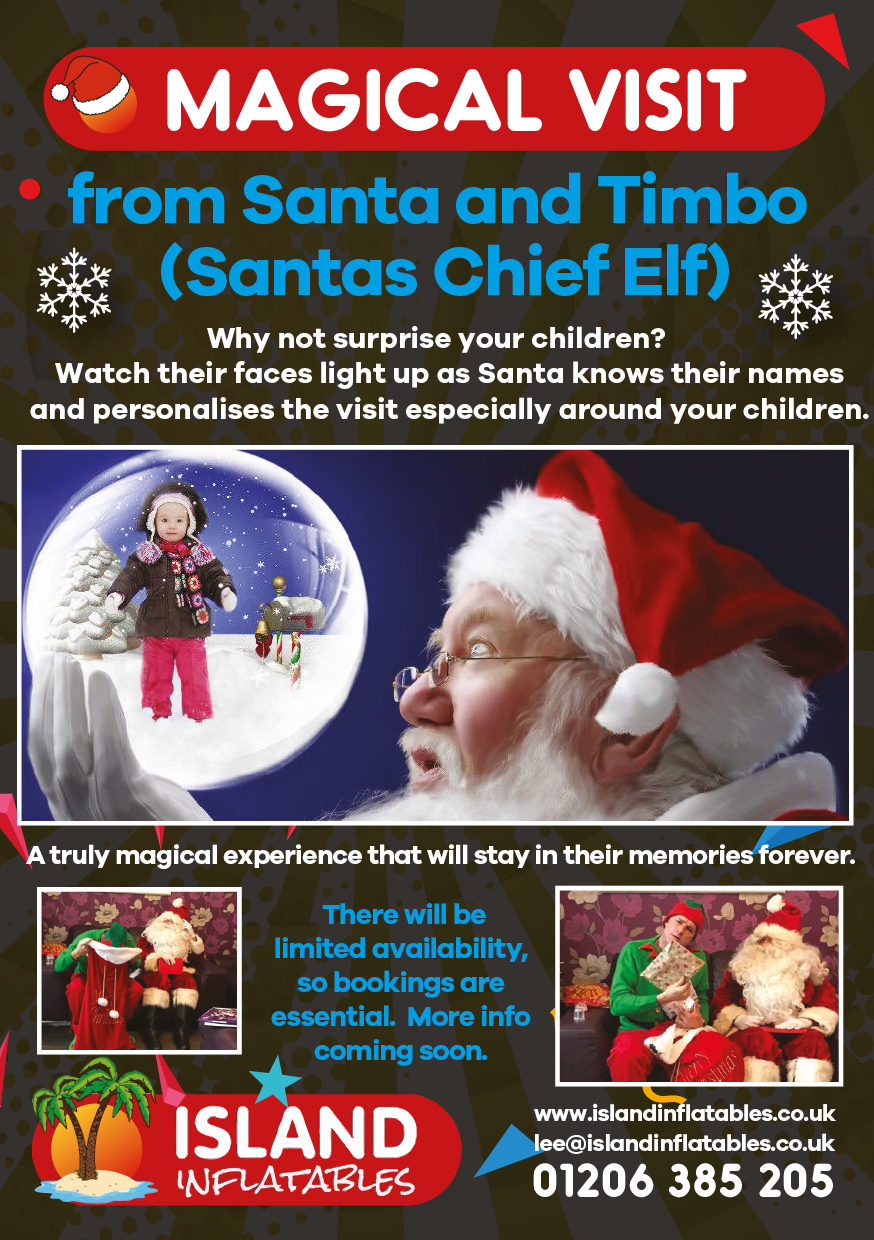 Timbo The Elf Amp Santa Home Visits Bouncy Castle
